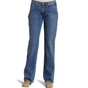 Carhartt 4X30 Thick Dark Wash Carpenter Jeans EUC
